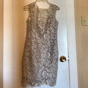 Dresses & Skirts - Silver lace dresss